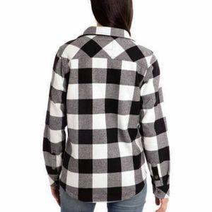 Orvis Tops - Orvis Ladies' Fleece Lined Shirt Jacket - Black/Wh